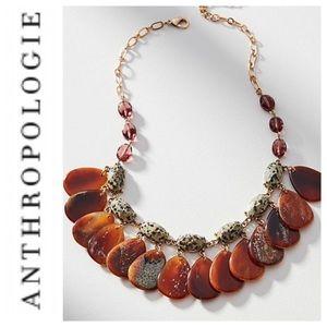 Anthropologie Fluttering Leaf Bib Necklace